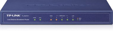 TP-LINK TL-R470T+ bedrade router Ethernet LAN Blauw